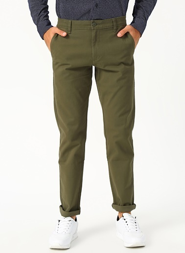 Dockers Dockers Smart 360 Flex Ultimate Chino Skinny Pantolon Haki